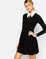 Love Tailored A Line Dress with Collar