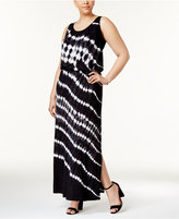 INC International Concepts Plus Size Tie-Dyed Maxi Dress, Created for Macy's