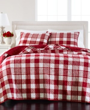 Martha Stewart Collection Buffalo Plaid Yarn Dye King/Cal King Quilt, Created for Macy's