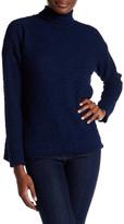 Joseph A Funnel Neck Popcorn Knit Pullover Sweater