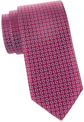 Charvet Neat Diamond Silk Tie