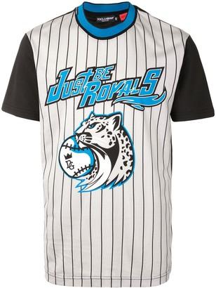 Dolce & Gabbana striped baseball T-shirt