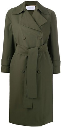 Harris Wharf London Oversized Double-Breasted Trench Coat