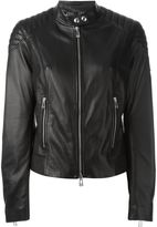 Belstaff classic biker jacket - women - Leather - 44
