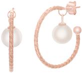 Bliss Pearl & Rose Gold Hoop Earrings