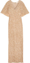 Alice + Olivia Krystina Sequined Tulle Gown - Gold