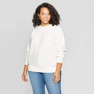 Ava & Viv Women's Plus Size Long Sleeve Crewneck Textured Pullover - Ava & VivTM