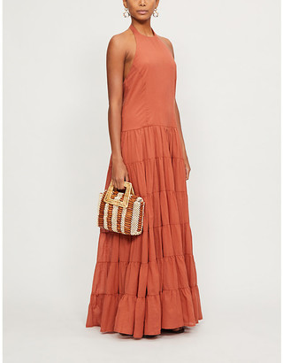 Erika Pena Charlotte Rumba halter neck cotton maxi dress