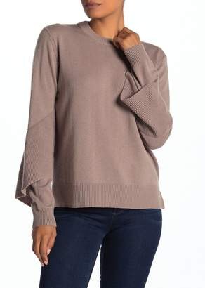 Brochu Walker Flounce Sleeve Wool & Cashmere Sweater