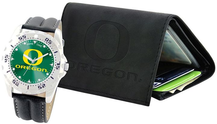 Oregon ducks watch & wallet gift set