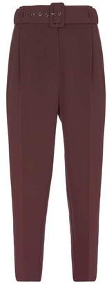 Mint Velvet Burgundy High Waisted Trousers