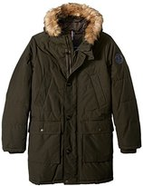 Tommy Hilfiger Men's Tall Size Arctic Cloth Full Length Quilted Snorkel with Removable Faux Fur Trimmed Hood and Ultra Loft Isulation