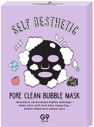 G9skin Self Aesthetic Poreclean Bubble Mask - 1 Box of 5 Sheets