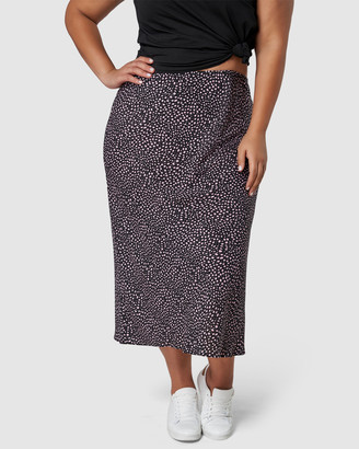 Something 4 Olivia - Women's Black Pencil skirts - Catalina Print Midi Skirt - Size One Size, 14 at The Iconic