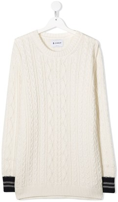 Dondup Kids TEEN chunky cable knit jumper