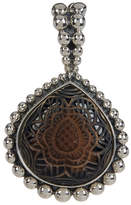 Stephen Dweck Sterling Silver Carved Smoky Quartz Pendant