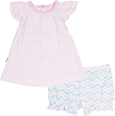 Kushies Light Pink Dress & Bloomers - Infant