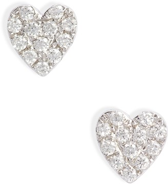 Bony Levy Mika Love Heart Shaped Diamond Earrings