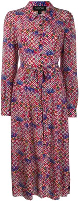 Saloni Printed Shirt Dress