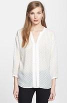 Rebecca Taylor 'Clip' Dot Silk Blend Blouse