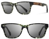 Shwood Women's Polarized Wood Inlay Sunglasses - Darkforest/ Elm/ Grey Polar
