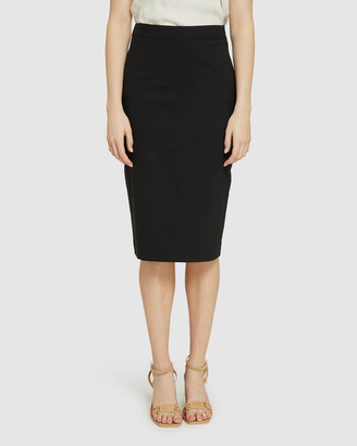 Oxford Women's Pencil skirts - Peggy Blk Wool Stretch Suit Skirt - Size One Size, 6 at The Iconic