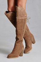 Forever 21 FOREVER 21+ Sbicca Suede Lace-Up Boots