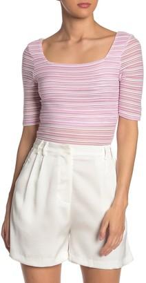 NSR Shelly Stripe Knit Top