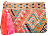 Seafolly Carried Away Embroidered Clutch
