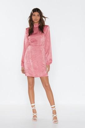 Nasty Gal Womens Back To My Pad Satin Mini Dress - Pink - 6, Pink