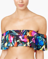 Bar III Painted Posies Printed Off-The-Shoulder Bikini Top, Only at Macy's