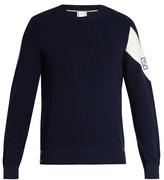 Moncler Gamme Bleu Stripe-detail cotton sweater