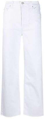 Boyish Mikey Raw Hem Straight Leg Jean in White