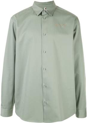 Oamc long sleeved photographic print shirt