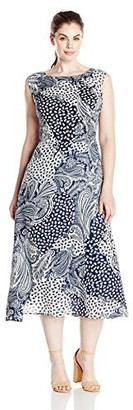 Single Dress Women's Plus Size Print Kathryn Dress