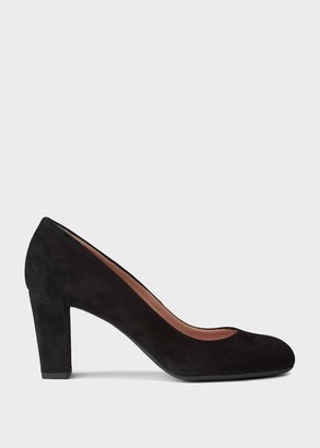 Hobbs Sonia Suede Block Heel Court Shoes
