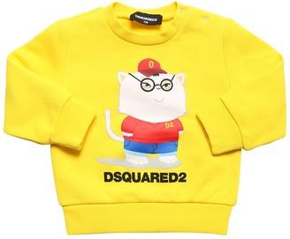 DSQUARED2 Cat Printed Cotton Sweatshirt