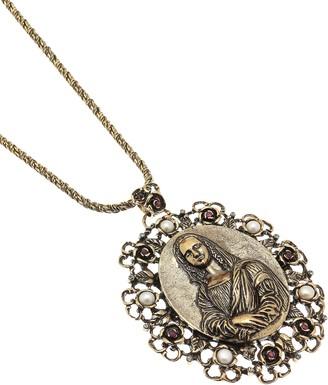 Alcozer & J Golden Brass Gioconda Necklace