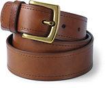 Lands' End Men's Comfort Fit Leather Belt-White