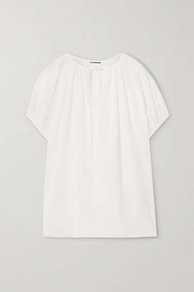 Jil Sander Tie-detailed Voile Blouse - White