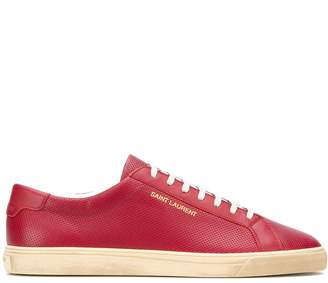 Saint Laurent Andy perforated low-top sneakers