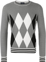 Ballantyne diamond pattern jumper - men - Cotton/Cashmere - 50