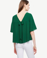 Ann Taylor Bow Back Popover