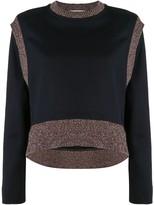 Cédric Charlier ribbed-trim sweatshirt