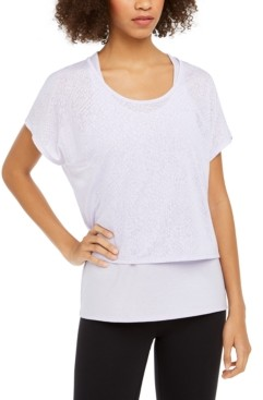 Ideology Snake-Print Burnout Layered T-Shirt, Created for Macy's