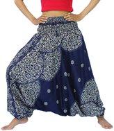 NaLuck Women's Boho Hippie Sunflower Rayon Baggy Jumpsuit Yoga Aladdin Harem Pants PH18