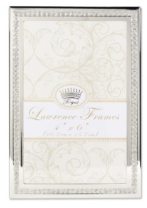 """Lawrence Frames Dazzle Silver and Glitter Picture Frame - 4"""" x 6"""""""