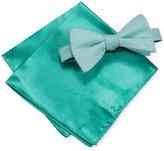 Alfani Men's Green Bow Tie & Pocket Square Set, Created for Macy's