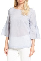 Nordstrom Bell Sleeve Tie Back Top