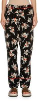 Marni Floral Drawstring Pajama Pants, Black